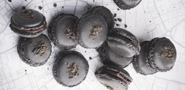 Lakritz-Macarons