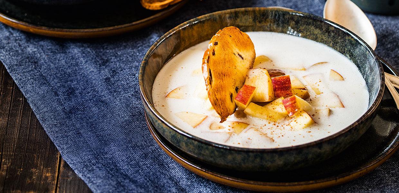 Cremige Cider-Zimt-Suppe