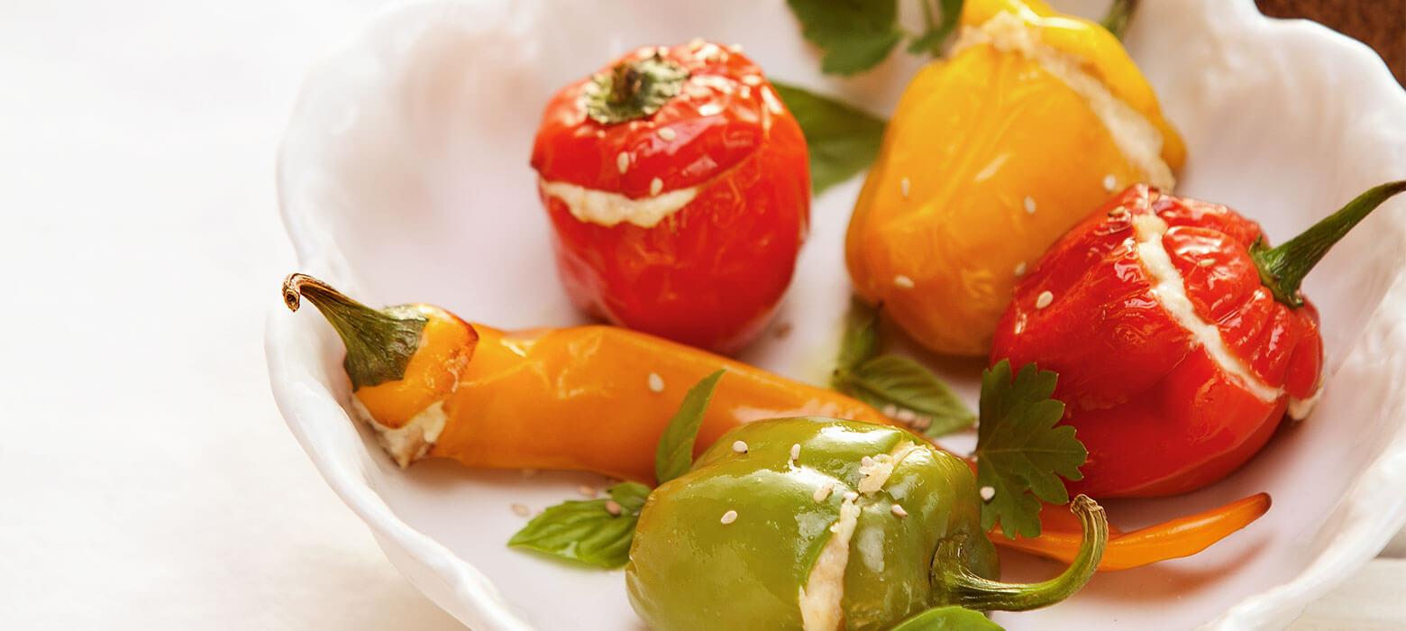 Gefüllte Mini-Paprika mit Thunfisch