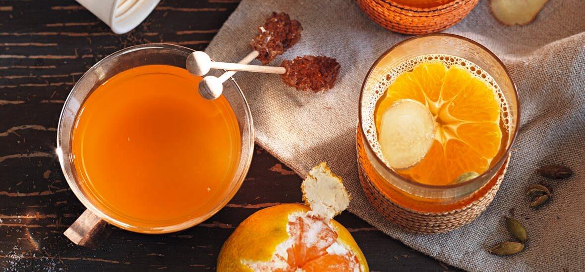 Mandarinenpunsch mit Ingwer und Kardamom