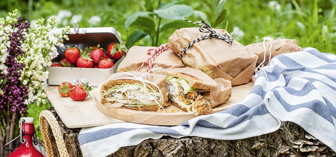 Knuspriges Backfisch-Sandwich