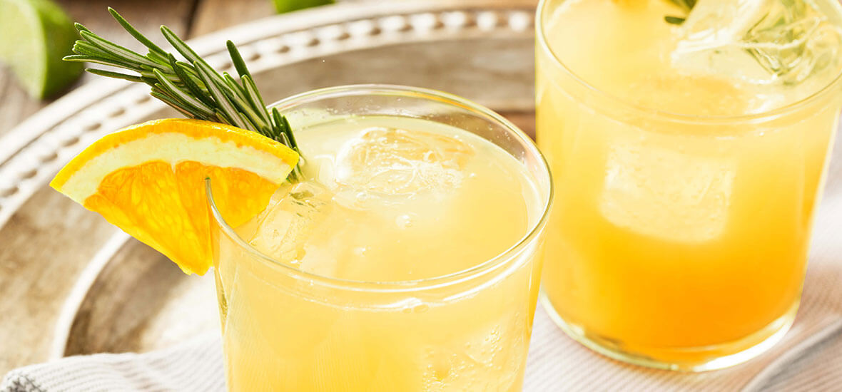Orangen-Kokos-Cocktail