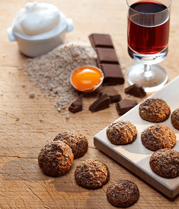 Schokolade Krapferl