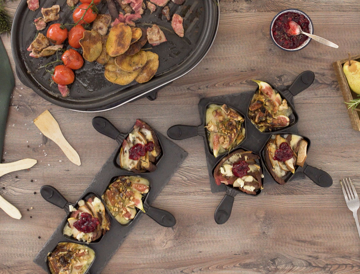 Bergkäse-Feigen Raclette